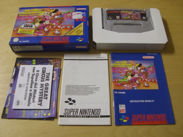SNES The Great Circus Mystery NENGL