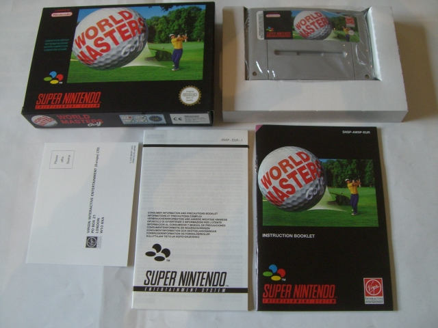 SNES World Masters Golf EUR