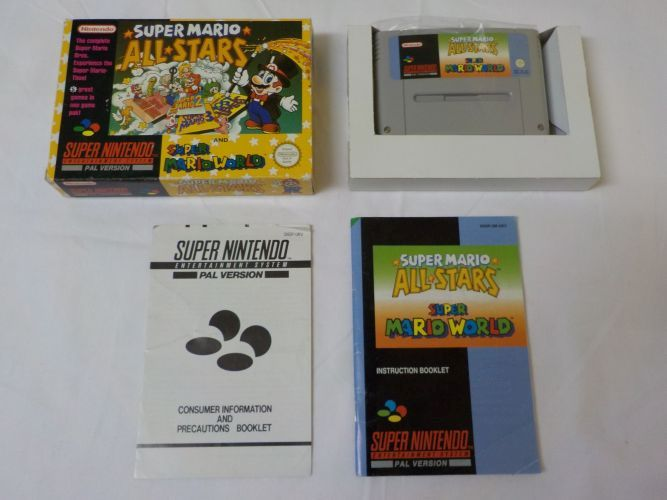 SNES Super Mario All Stars and Super Mario World UKV [27116