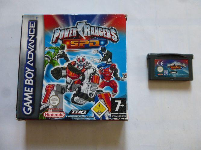 GBA Power Rangers S.P.D. NOE. Boxed Games