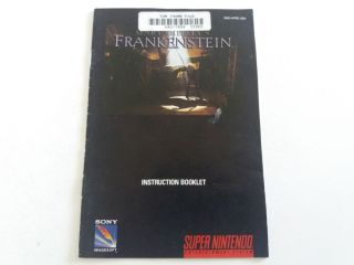 SNES Mary Shelley's Frankenstein USA Manual