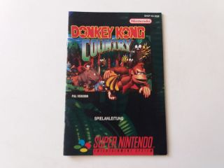 SNES Donkey Kong Country NOE Manual