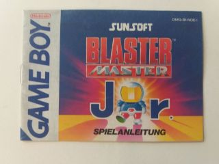 GB Blaster Master Jr. NOE Manual