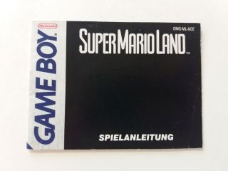 GB Super Mario Land NOE Manual