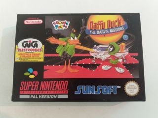 SNES Daffy Duck The Marvin Missions UKV