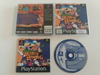 PS1 The Flintstones Bedrock Bowling