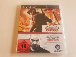 PS3 Tom Clancy's Rainbow Six Vegas & Splinter Cell Double Agent