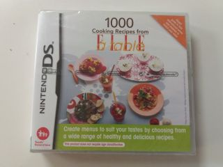 DS 1000 Cooking Recipes from Elle a table UKV