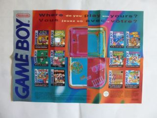 GB Nintendo Poster / Advertising