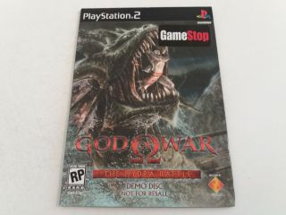 PS2 God of War The Hydra Battle Demo Disc