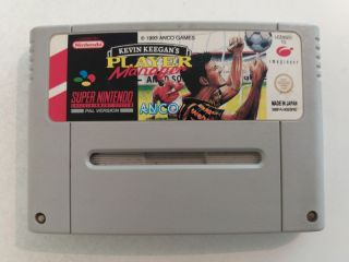 SNES Kevin Keegan's Player Manager NOE/SFRG