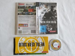 PSP Metal Gear Solid: Peace Walker