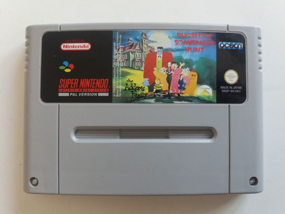 SNES The Addams Family Pugsley's Scavenger Hunt UKV