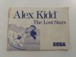 MS Alex Kidd The Lost Stars Manual