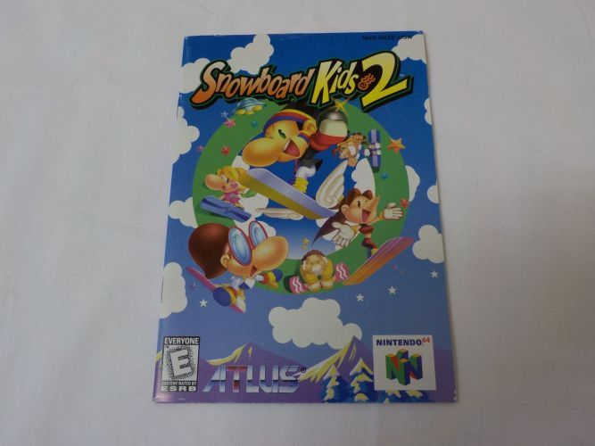 N64 Snowboard Kids 2 USA Manual